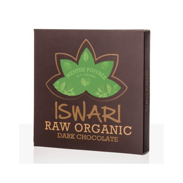 Tablette de chocolat à la menthe poivrée bio 75 g 407530