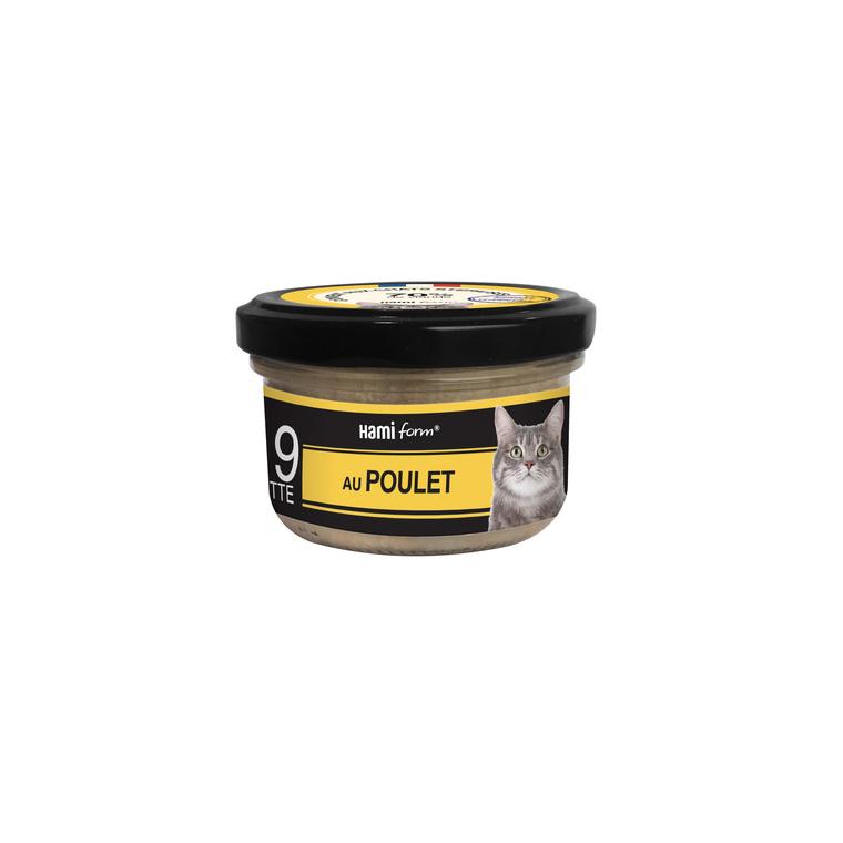 Boîte Chat Hamiform 80g, poulet, colin et fromage 407768