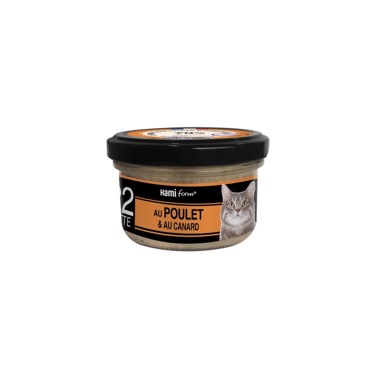 Boîte Chat Hamiform 80g, poulet, fromage et riz 407771