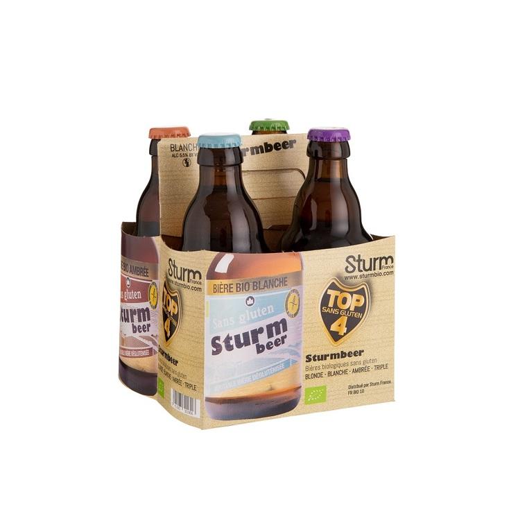 Pack Panier dégustation de 4 bières bio sans gluten 4 x 33 cl 408075