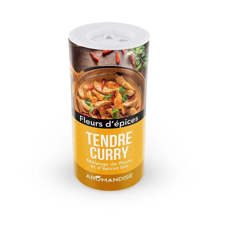 Fleurs d'épices bio pour tendre curry en tube poudreur de 40 g 408485