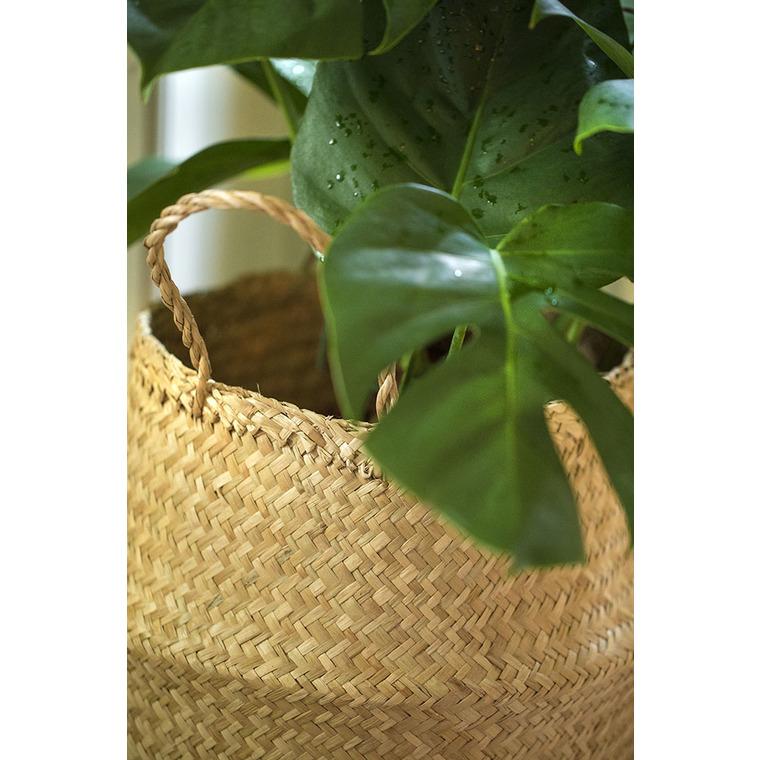 Panier seagrass en jonc taille L Ø 36 x 37 cm 409132