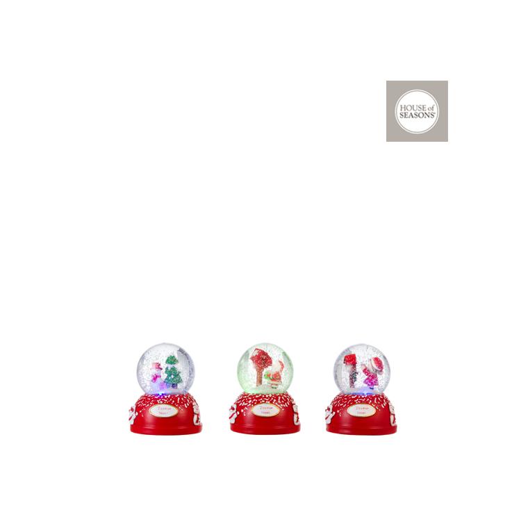 Boules à neige Christmas Rouge – h16 x ?13 cm 409499