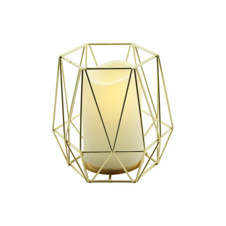 Déco or avec bougie Ø13xH15 cm 410040