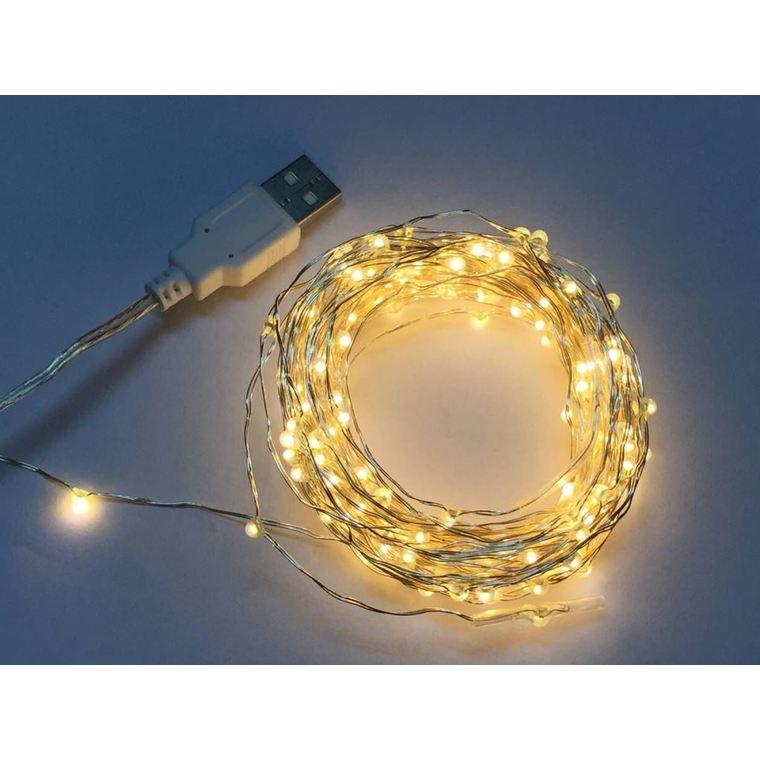 Guirlande à micro LED usb blanc chaud de 5 V 4 m 410475