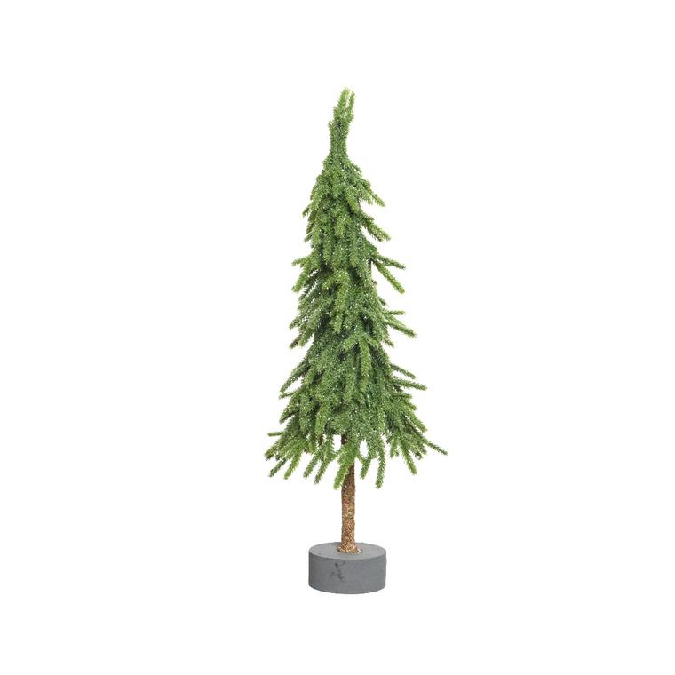 Mini sapin de Noël en polyéthylène sur support 12 x 12 x 35 cm 410587