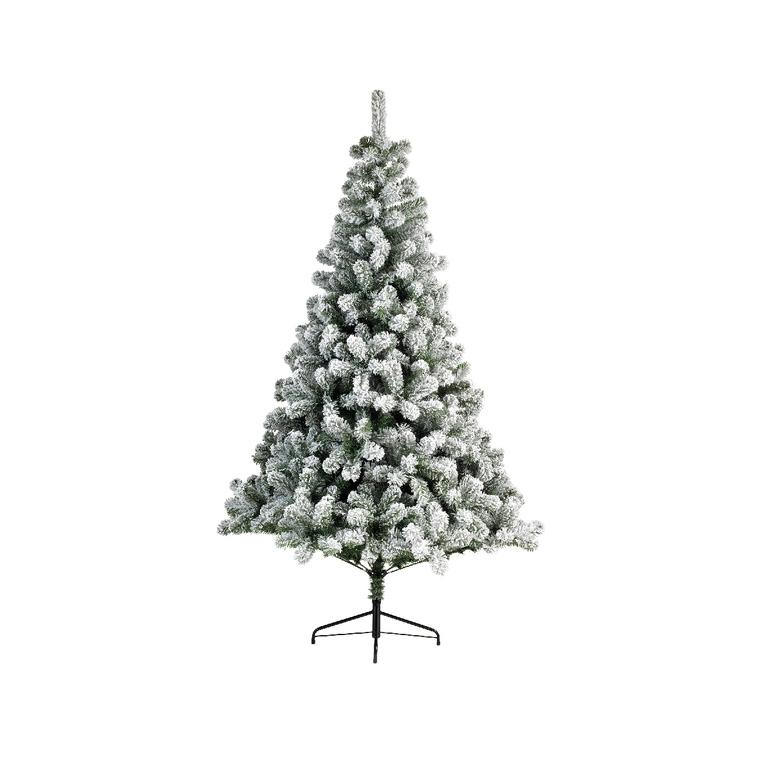 Sapin artificiel snowy imperial pine vert et blanc NF 180 cm 410613