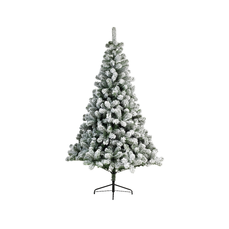 Sapin artificiel snowy imperial pine vert et blanc NF 210 cm 410614