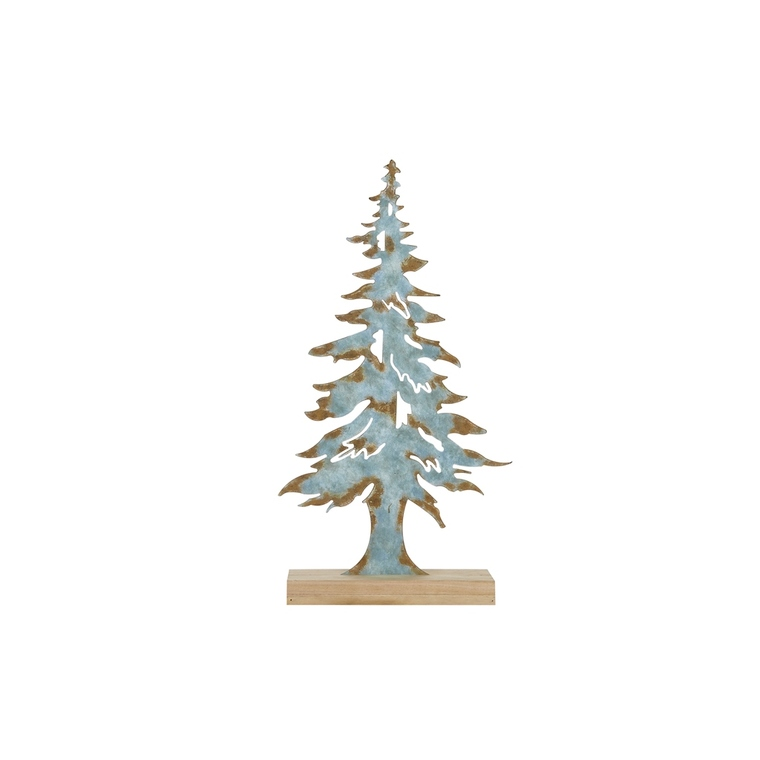 Sapin décoratif en bois bleu 28 x 11 x 53 cm 411307