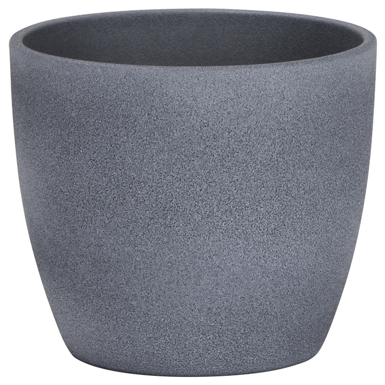 Cache-pot 920 Dark stone Ø 19 x H 17 cm Céramique émaillée 411799