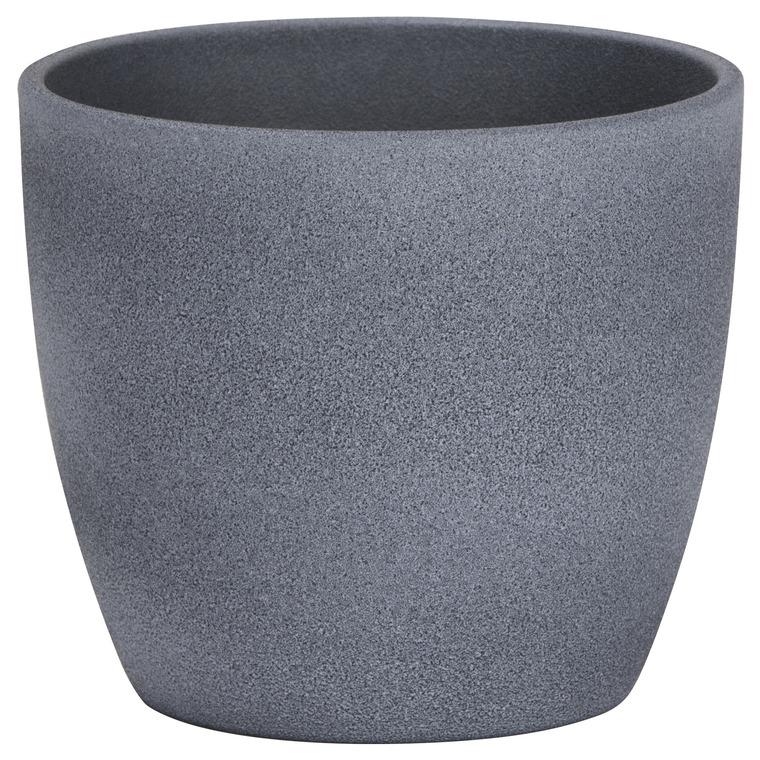 Cache-pot 920 Dark stone Ø 22 x H 19,5 cm Céramique émaillée 411800