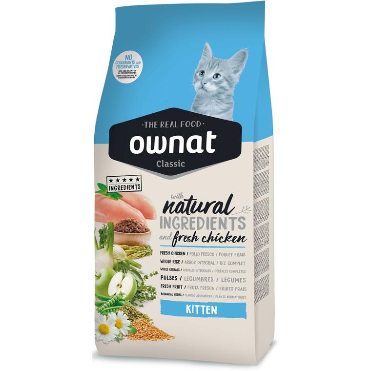 Croquettes pour chaton Ownat Classic Kitten - 1,5 kg 413175