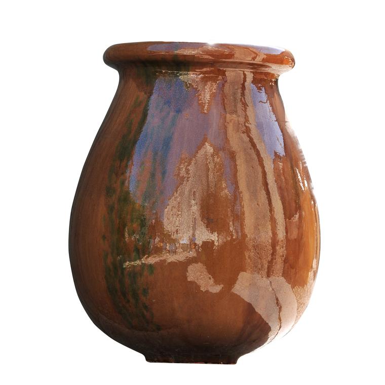 Pot Biot flammé en terre cuite émaillée H 70 x Ø 54 cm 41332