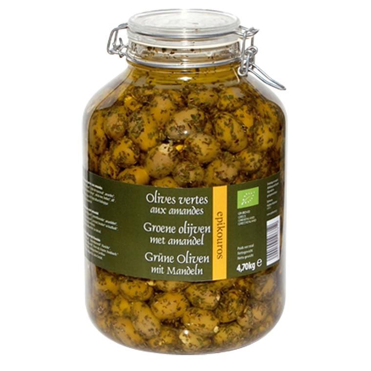 Olives vertes farcies aux amandes bio 413405