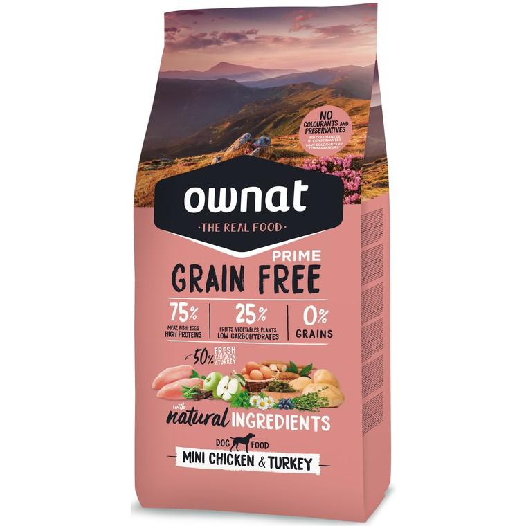 Croquettes pour chien Ownat grain free prime mini Poulet et dinde 3 kg 413864