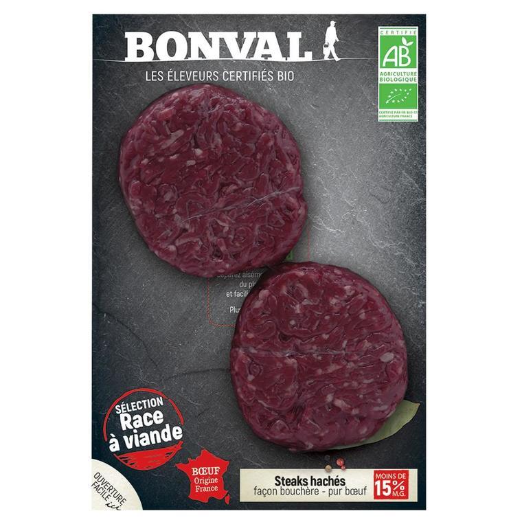 Steak haché pur bœuf 15% MG 250g 413998