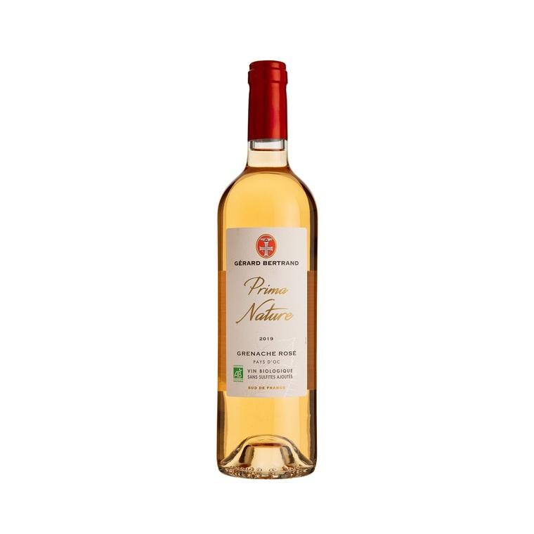 Vin rosé Bio Prima Nature IGP Pays d'oc Grenache sans sulfite 75 cl 414279