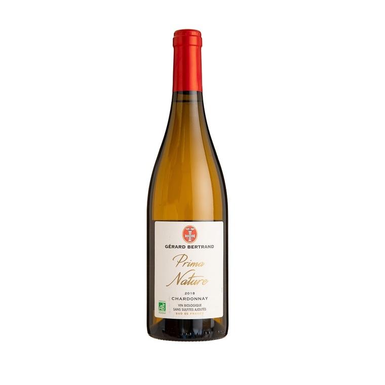 Vin blanc Prima Nature IGP Pays d'Oc Bio Chardonnay vegan sans sulfite 414281