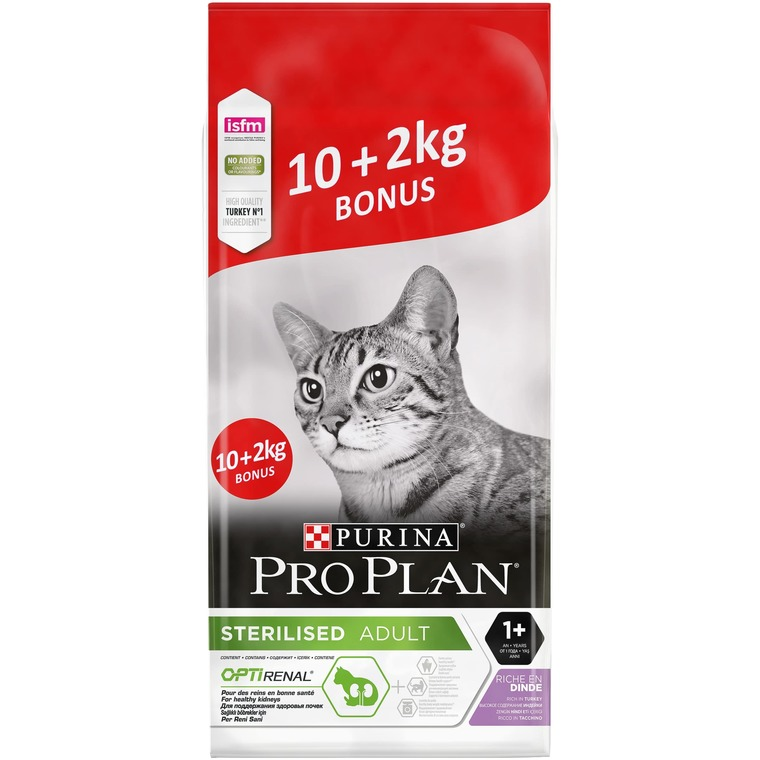 Croquettes pour chat stérilisé Cat Sterilised dinde en sac de 10+2 kg 415336