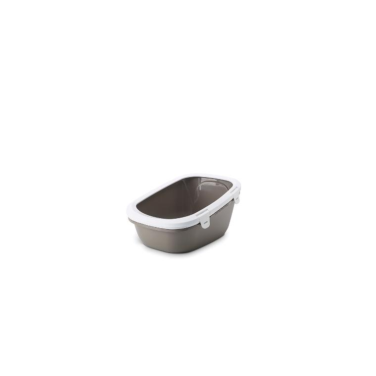 Bac à litière avec tamis Simba Sift gris 415419