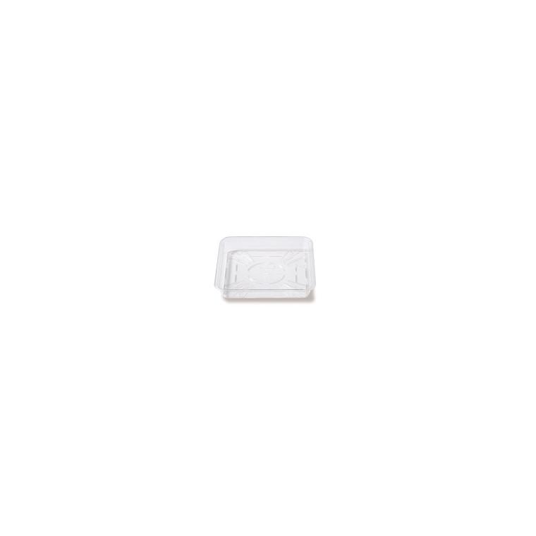 Soucoupe carrée 14 cm transparente ELHO 41560
