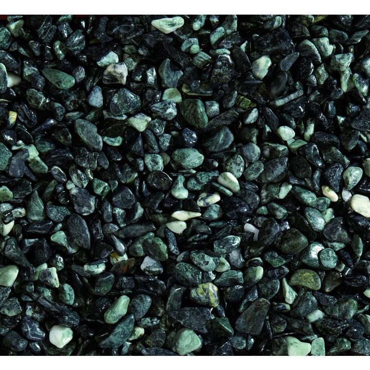 Graviers de marbre des Alpes vert calibre 15 à 25 mm en sac de 20 kg 415881