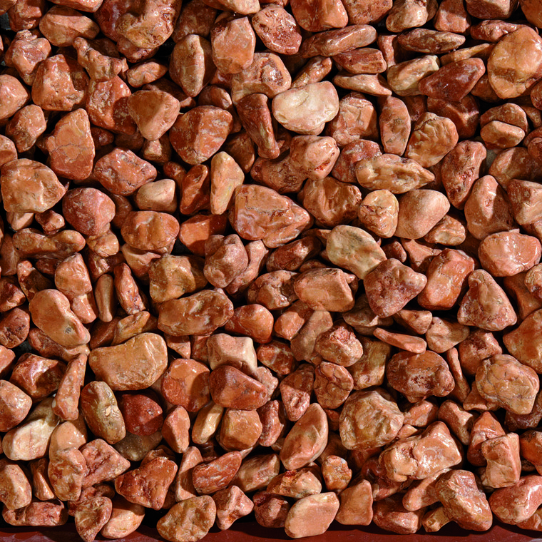 Graviers de marbre de Vérone rouge calibre 15 à 25 mm en sac de 20 kg 415883