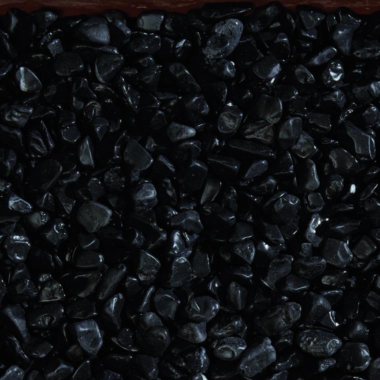 Graviers de marbre noir ébène de calibre 15 à 25 mm en sac de 20 kg 415884