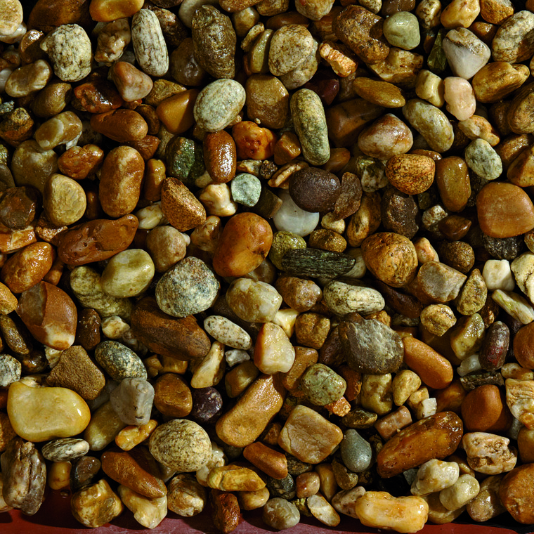 Graviers décoratifs de silice de rivière de 7 à 15 mm en sac de 10 kg 415892