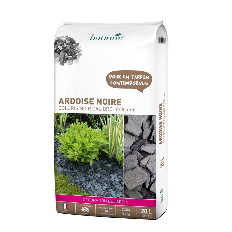 Ardoise noire pour jardin de calibre 10 à 30 mm en sac de 20 L 416024