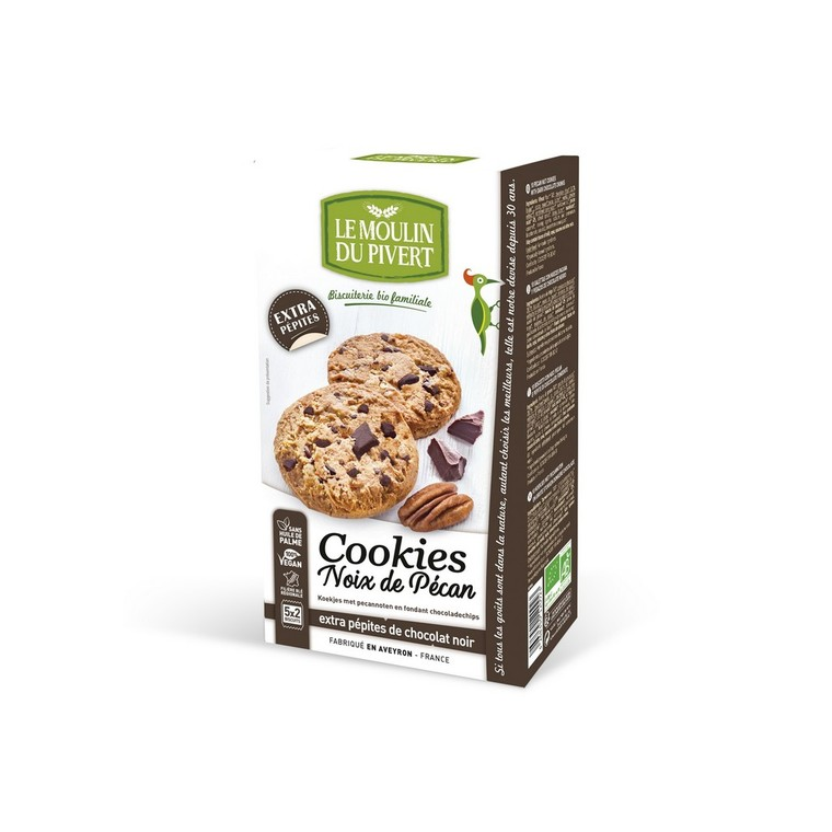 Cookies pecan, extra pépites de chocolat noir bio 416117
