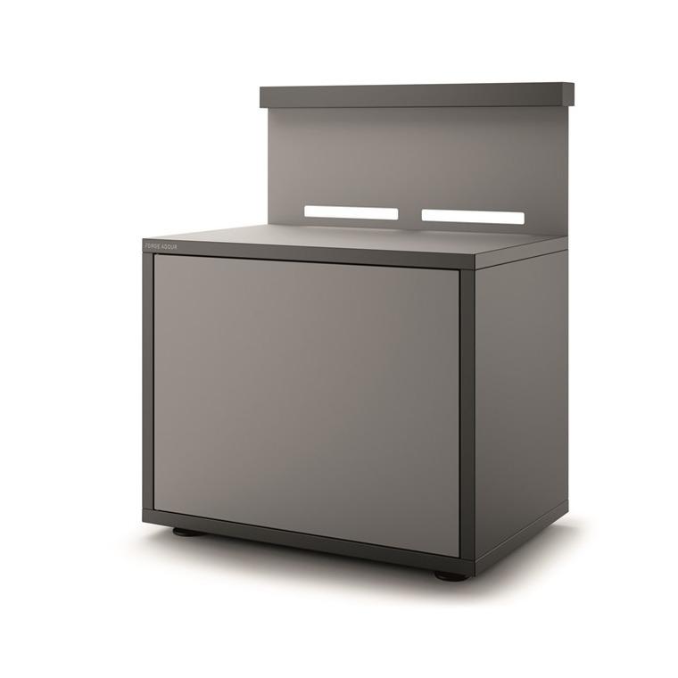 Support plancha en acier fermé noir et gris de 90 x 64,5 x 112,8 cm 416995