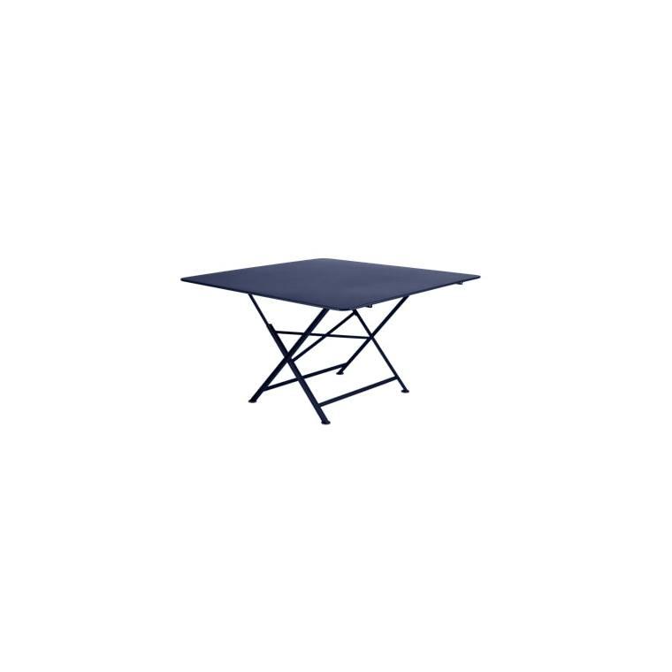 Table de jardin Cargo FERMOB Bleu abysse L128xl128xh74 417642