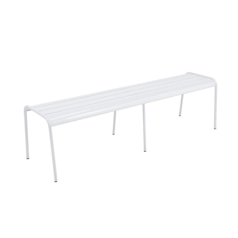 Banc Monceau XL Fermob en acier coloris blanc coton 160 cm 417656