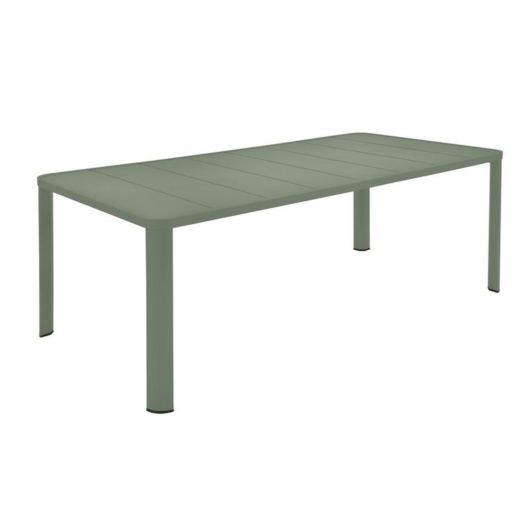 Table Oleron en aluminium coloris Cactus de 205 x 100 x 74 cm 417736