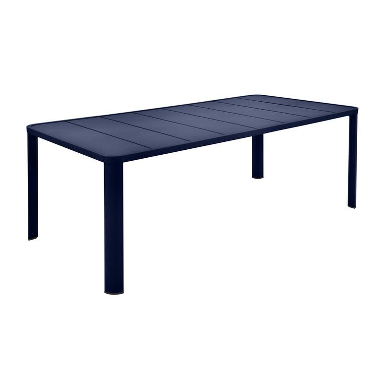 Table Oleron en aluminium coloris Bleu abysse de 205 x 100 x 74 cm 417737