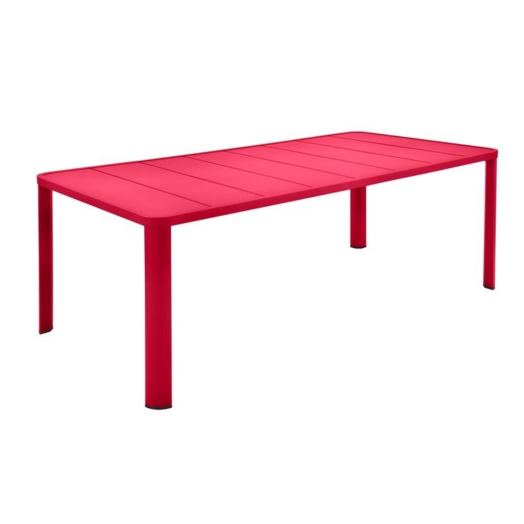 Table Oleron en aluminium coloris Rose praline de 205 x 100 x 74 cm 417738