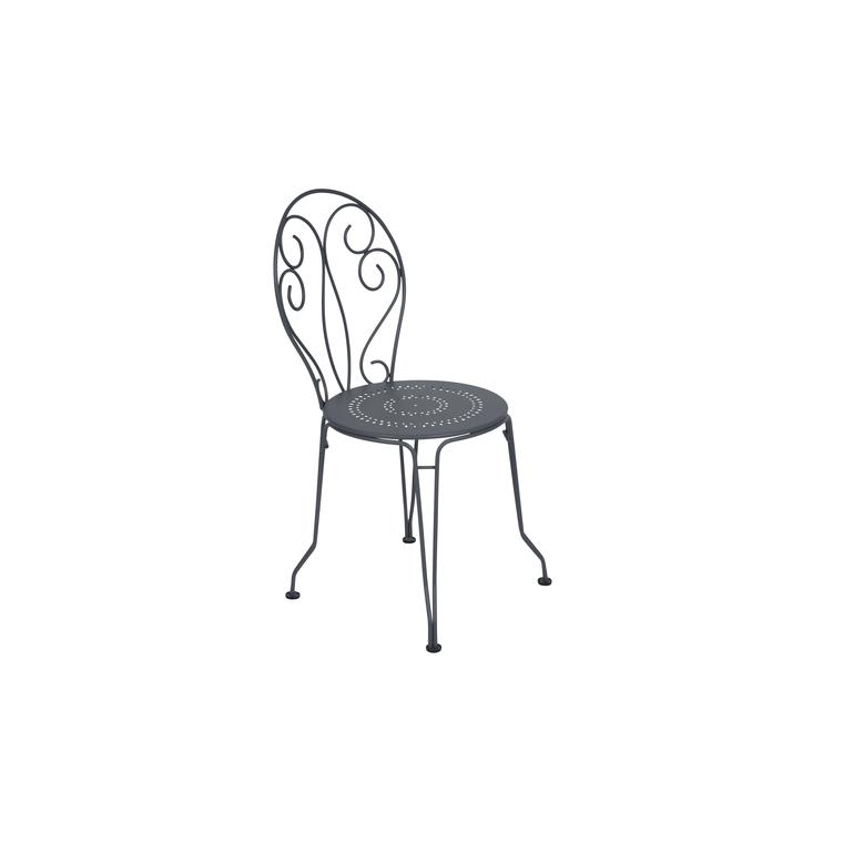 Chaise de jardin Montmartre Fermob couleur Carbone 417789