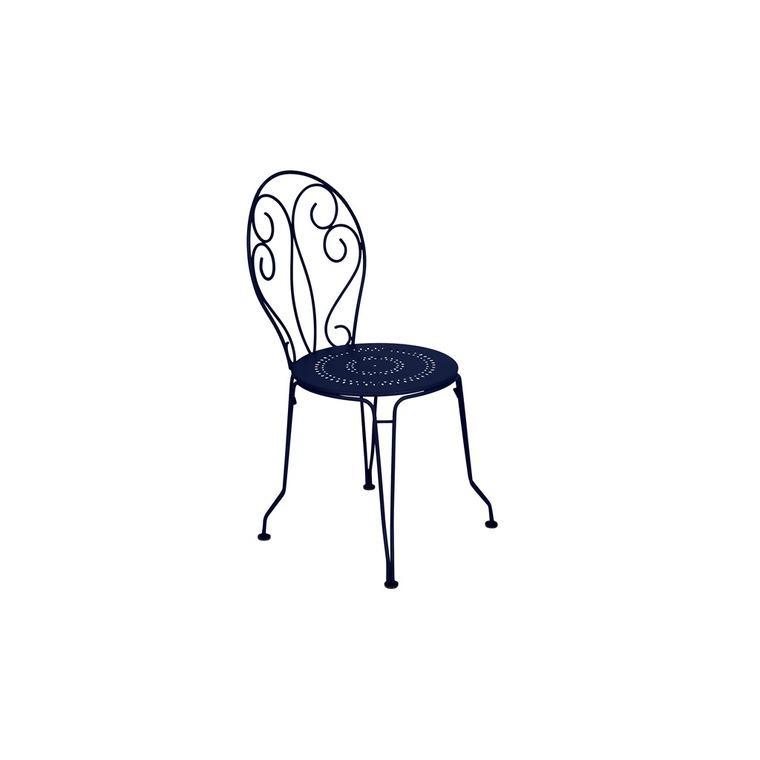 Chaise de jardin Montmartre Fermob couleur Bleu abysse 417793