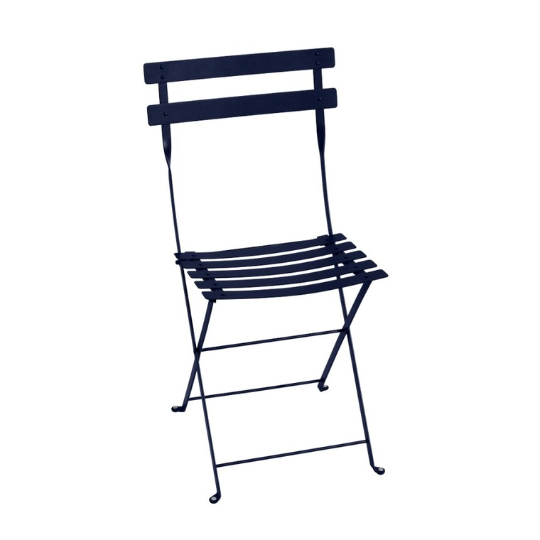 Chaise pliante Bistro Fermob coloris Bleu abysse 417804