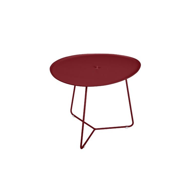 Table basse cocotte en aluminium coloris piment de 44 x 55 x 43 cm 417816