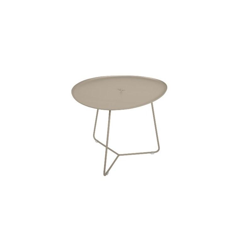 Table basse cocotte couleur muscade - 44,5x55x43,5 cm 417825