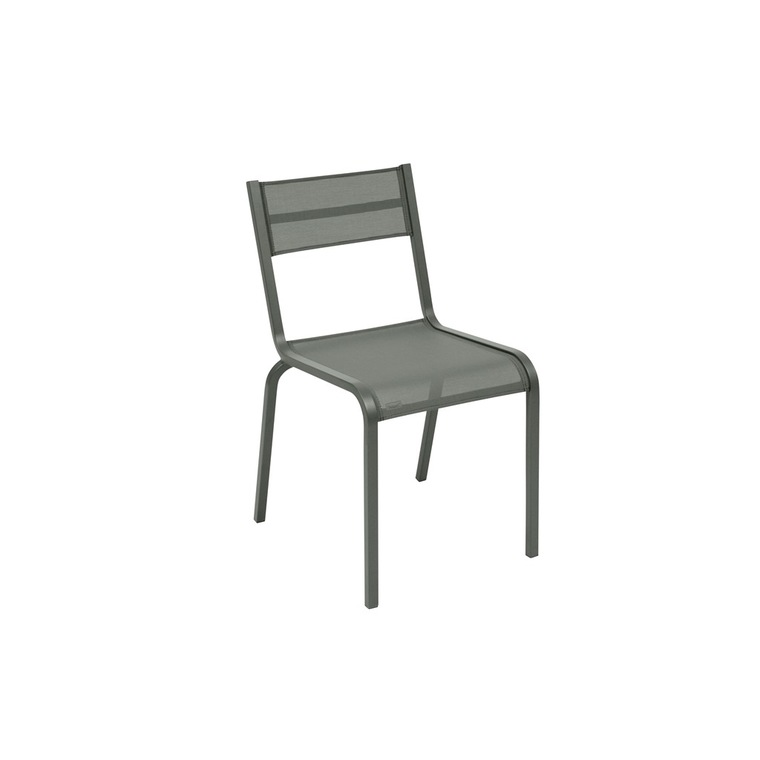 Chaise oleron en aluminium coloris romarin de 49 x 53 x 84 cm 417843