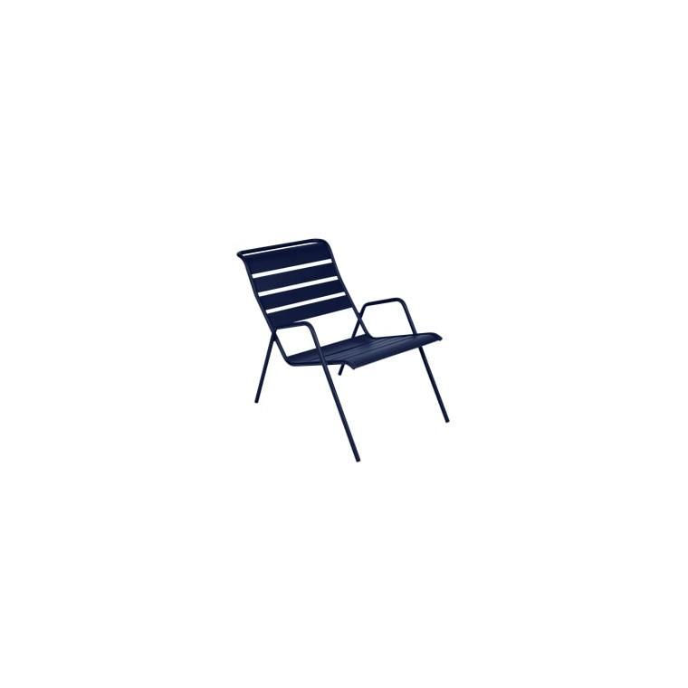 Fauteuil bas Monceau bleu abysse 417893