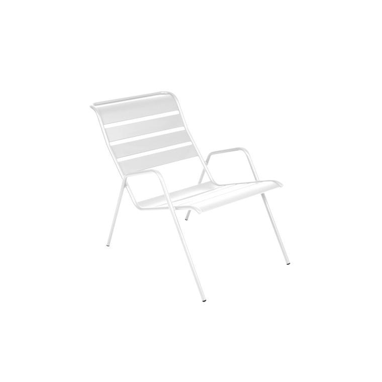 Fauteuil bas Monceau blanc coton 417895