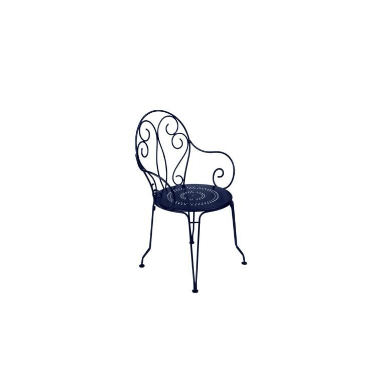 Fauteuil de jardin Montmartre Fermob bleu abysse 417934