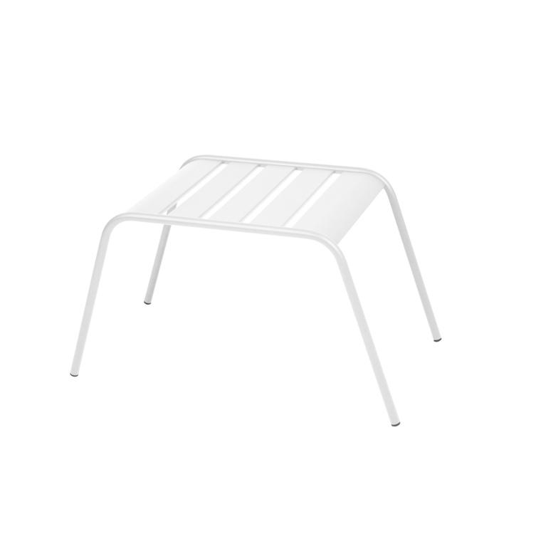Table basse de jardin Monceau Fermob blanc coton 60 x 48 x 41 cm 417949