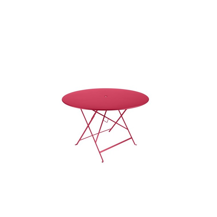 Table de jardin ronde pliante Bistro FERMOB rose praline 117 x 74 cm 418079