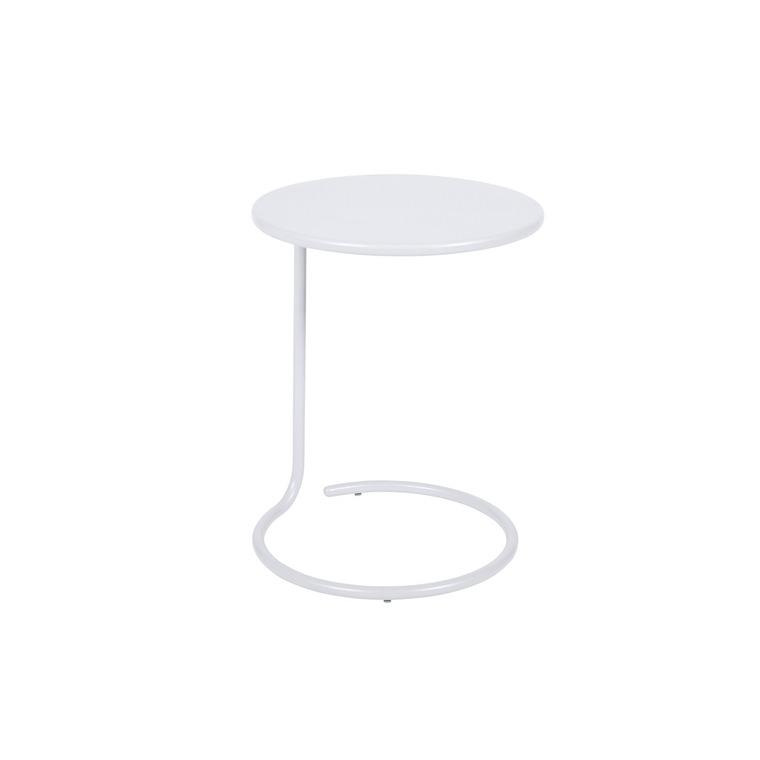 Table basse déportée coolside blanc coton de Ø 42 x 53 cm 418104