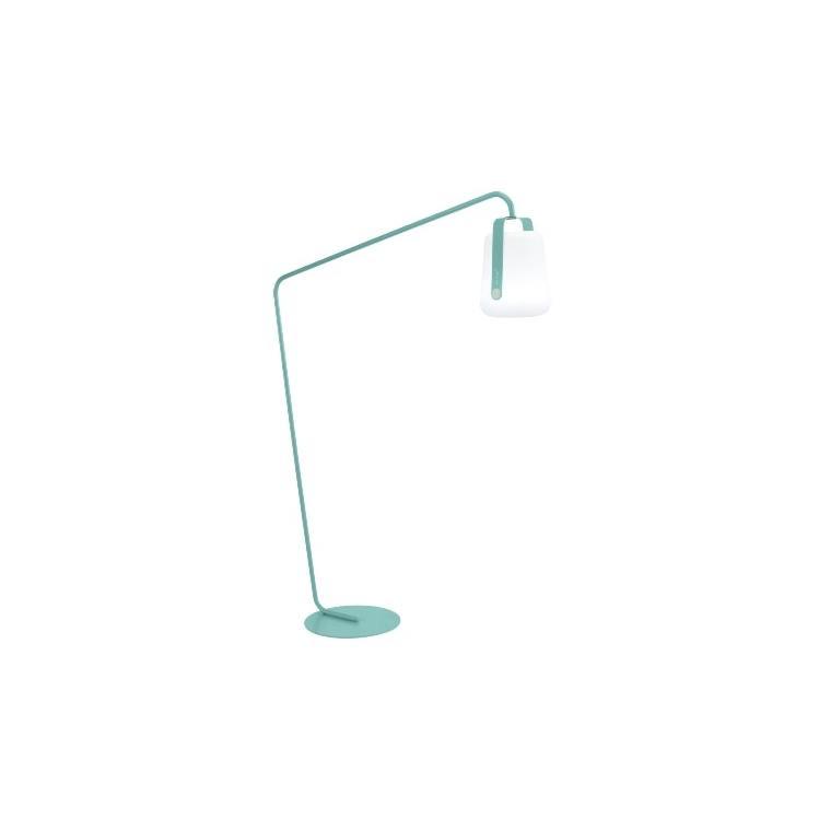 Pied déporté bleu lagune pour lampe Balad Fermob Ø 44 x H 190 cm 418125